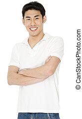 wit hemd, man