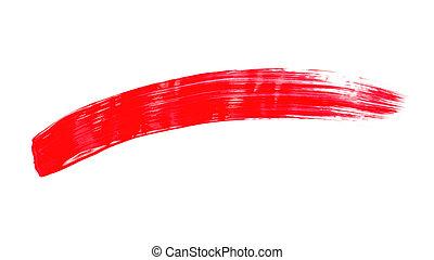 wit rood, achtergrond, brushstroke