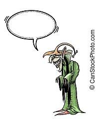 witch-100, reír, imagen, caricatura