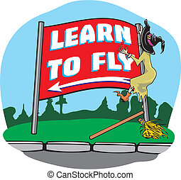 Witch accident - learning to fly - driving lesson, driving...