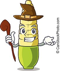 Witch baby corn cartoon in the fridge