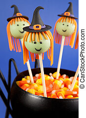 Witch cake pops