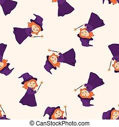 witch cartoon theme elements