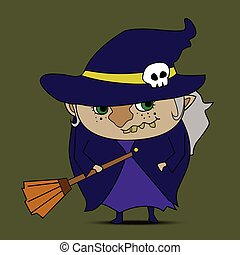 Witch cartoon vector
