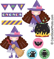Witch Design Party Elements