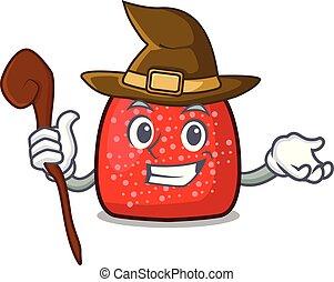Witch gumdrop mascot cartoon style vector illustration