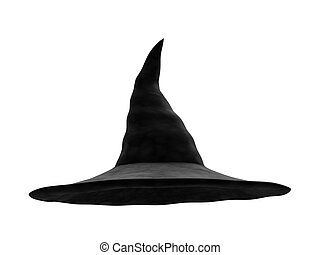 Witch Hat - A render of an isolated classic witch hat