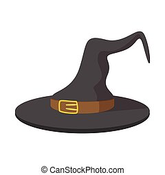 Witch hat cartoon icon