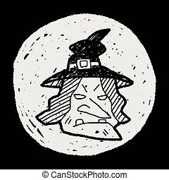 witch hat doodle