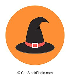 Witch hat flat icon