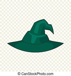 Witch hat icon, cartoon style - Witch hat icon. Cartoon...