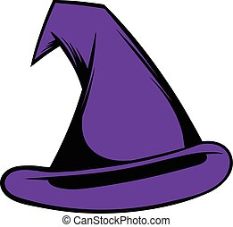Witch hat icon cartoon