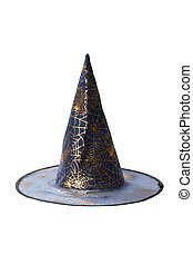 Witch hat isolated on white background