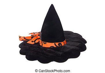 Witch hat isolated on white