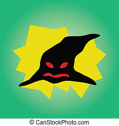 Witch hat vector cartoon style
