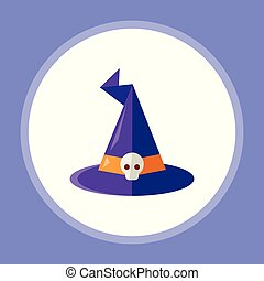 witch hat vector icon sign symbol