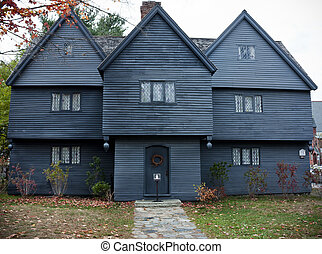 Witch House in Salem, Massachusetts is the only house still...