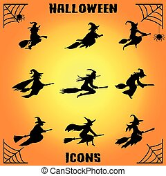 witch icon set