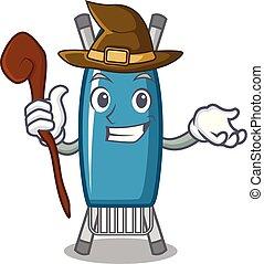 Witch iron board mascot cartoon