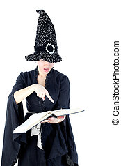 witch isolated on white
