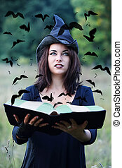 Witch looking at crows