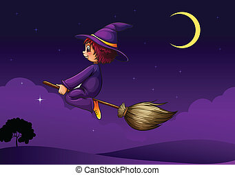 witch on a broom