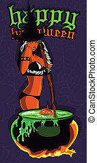Witch pin up