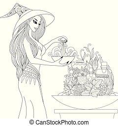 witch preparing