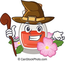 Witch rose seed oil the cartoon shape