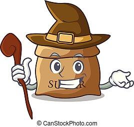 Witch sugar that burlap sack on mascot