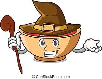 Witch tomato soup character cartoon