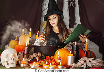 witch with a book