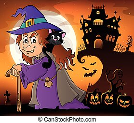 Witch with cat topic image 4
