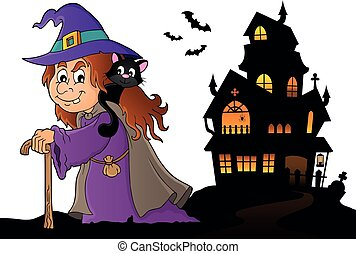 Witch with cat topic image 5