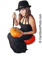 Witch with the pumpkin