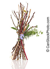Witches Bundle - Witches bundle consisting of twigs, herb...