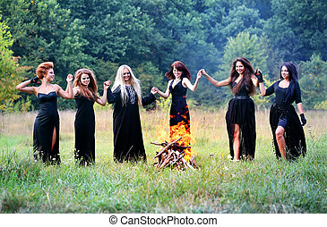 witches dancing on the Sabbath