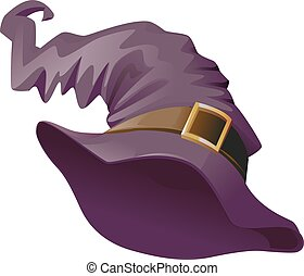 Witches hat. Accessory Halloween