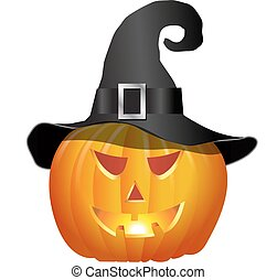 witches hat and pumpkin
