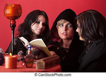 Witches Recite Spells - Three modern w