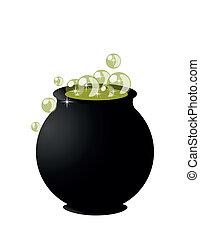 Witch?s cauldron