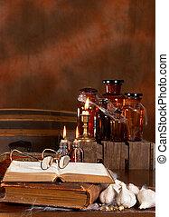 Witch's kitchen - Halloween witch's kitchen with poison...