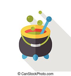 Witch's pot flat icon