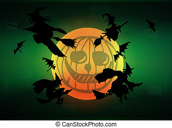Witch`s silhouettes