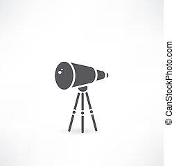 wite, サポート, 上に, 望遠鏡