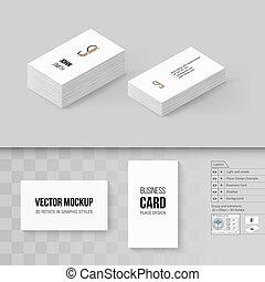 Branding Mock Up - Wite Business Cards Template. Branding ...