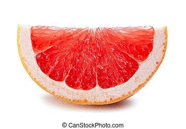wite grapefruit, snede, vrijstaand