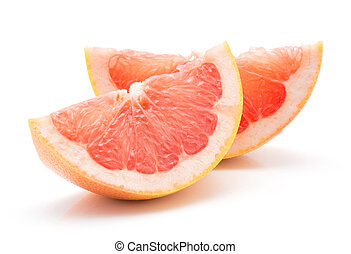 wite grapefruit, vrijstaand, rood
