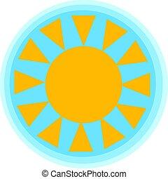 wite zon, illustratie, vector, achtergrond, glanzend