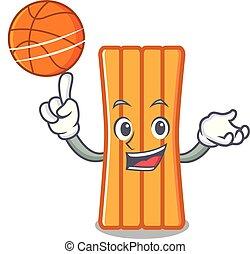 With basketball air mattress character cartoon